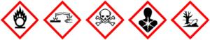 simbolos de peligro dicromato
